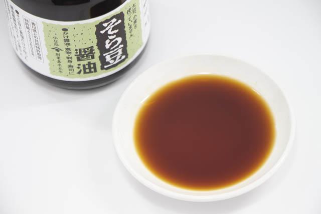 大豆・小麦を使わないそら豆と食塩だけで造った醤油風調味料「そら豆醤油」